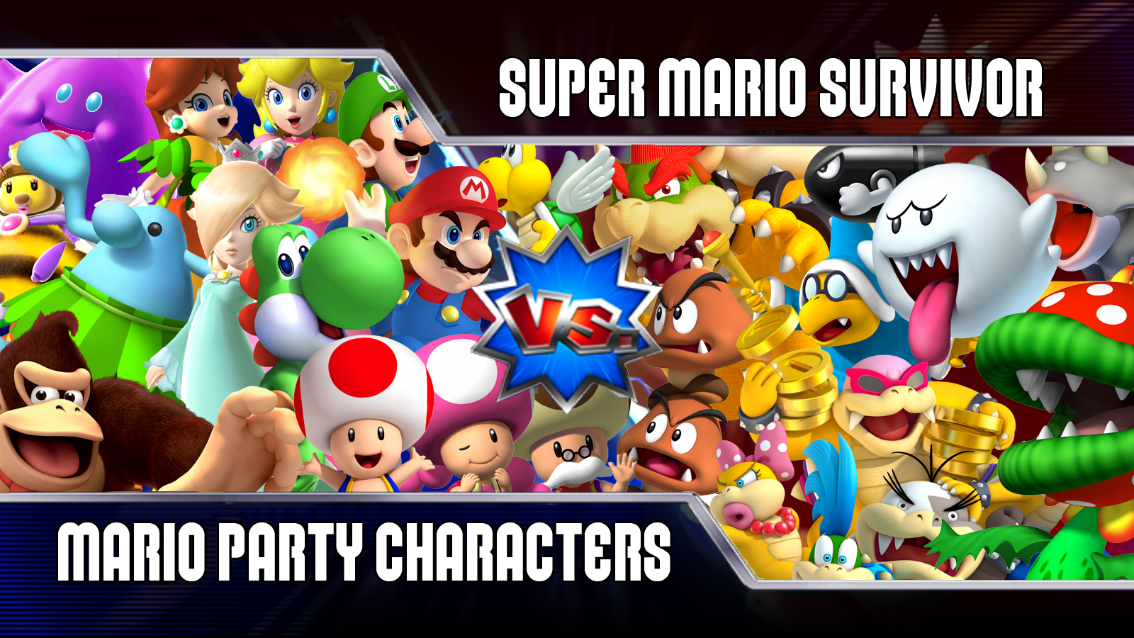 Super Mario Survivor 1 Mario Party Playable Characters