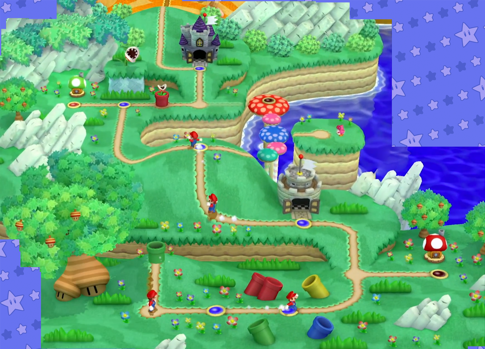 The world map so far new super mario bros u mario party legacy acorn plains world 1 gumiabroncs Gallery