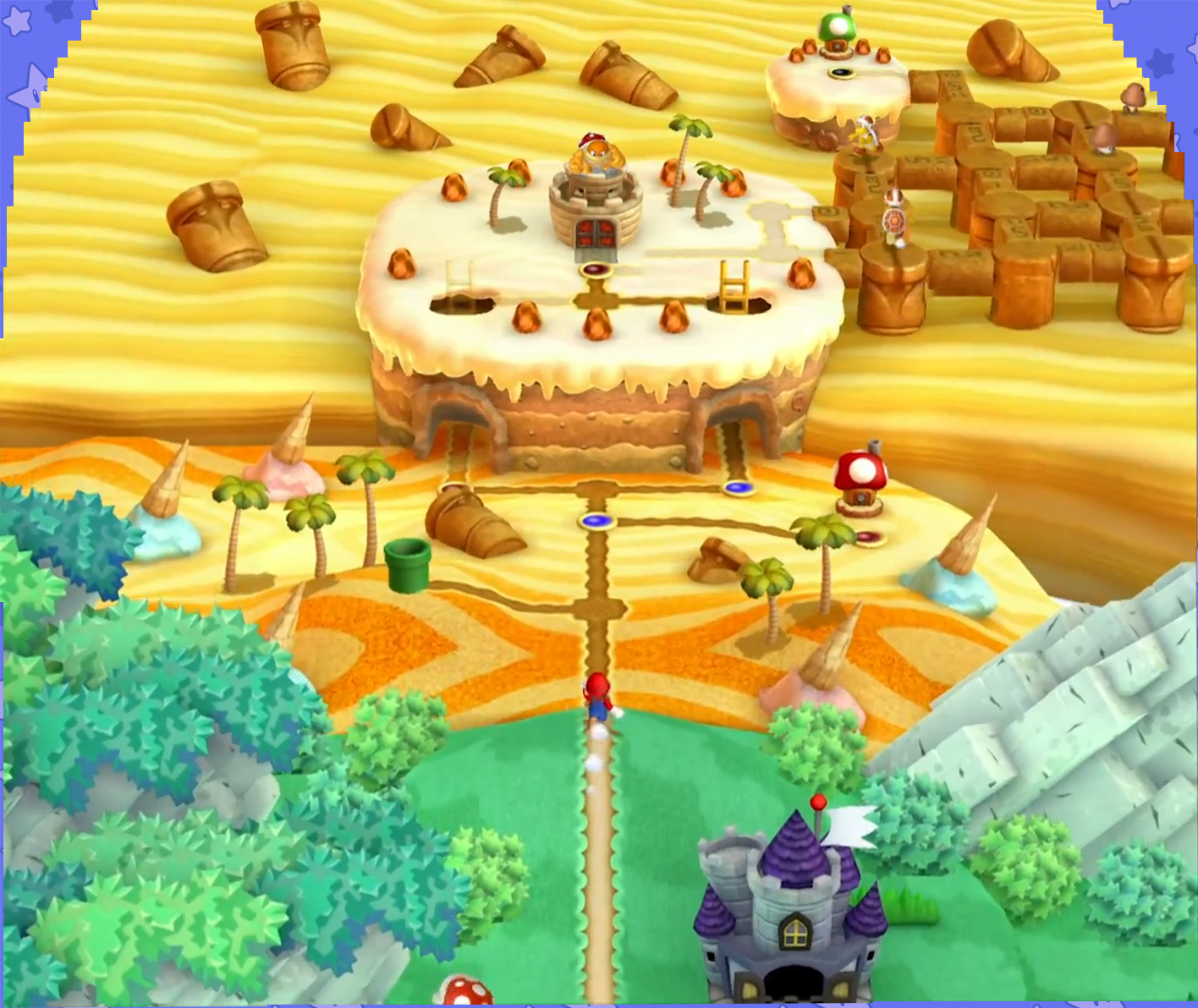 The World Map So Far New Super Mario Bros U Mario Party Legacy