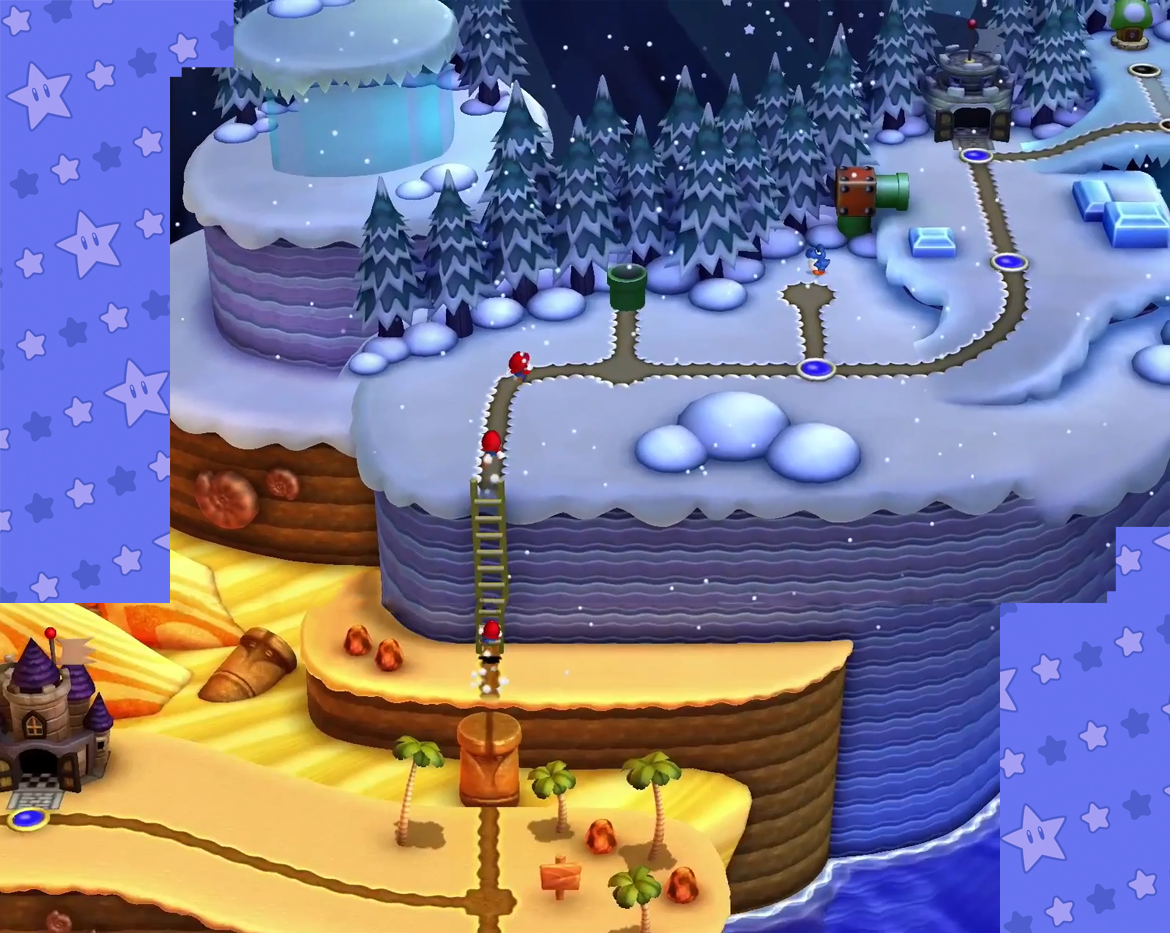 The world map so far new super mario bros u mario party legacy frosted glacier world 3 gumiabroncs Choice Image