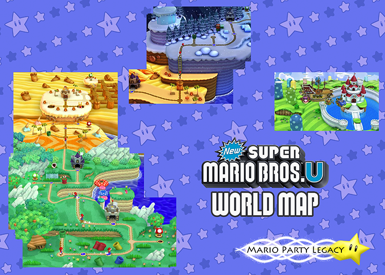 The world map so far new super mario bros u mario party legacy acorn plains world gumiabroncs Gallery