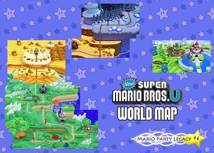 New Super Mario Bros. U - World Map - Mario Party Legacy