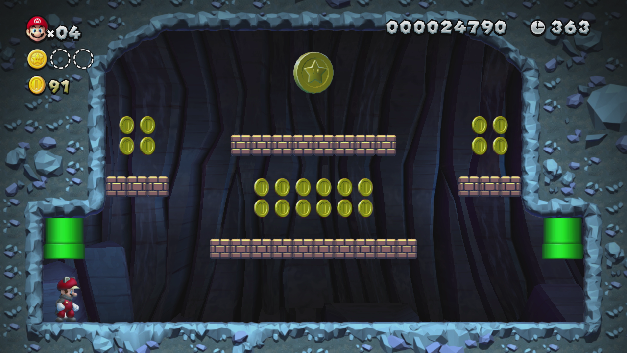 New super mario bros. Wii star coin location guide world 5-4.