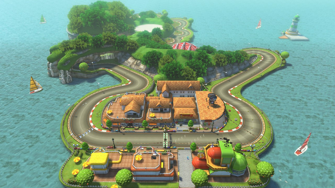 yoshi circuit returns in mario kart 8 dlc mario party legacy. Black Bedroom Furniture Sets. Home Design Ideas