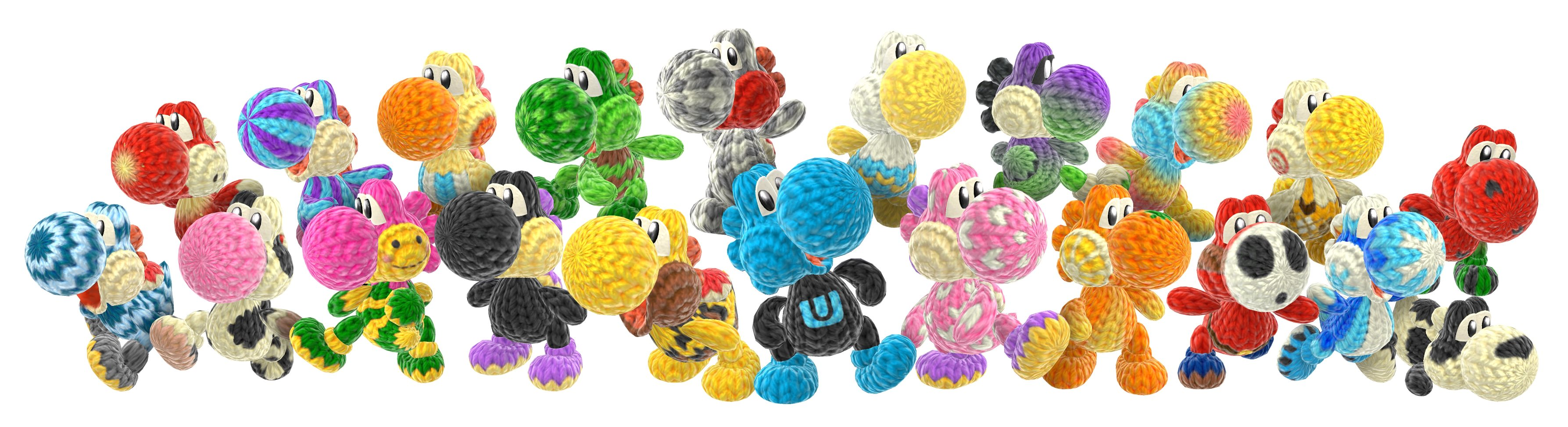 Tons of New Yoshi's Woolly World Art Released