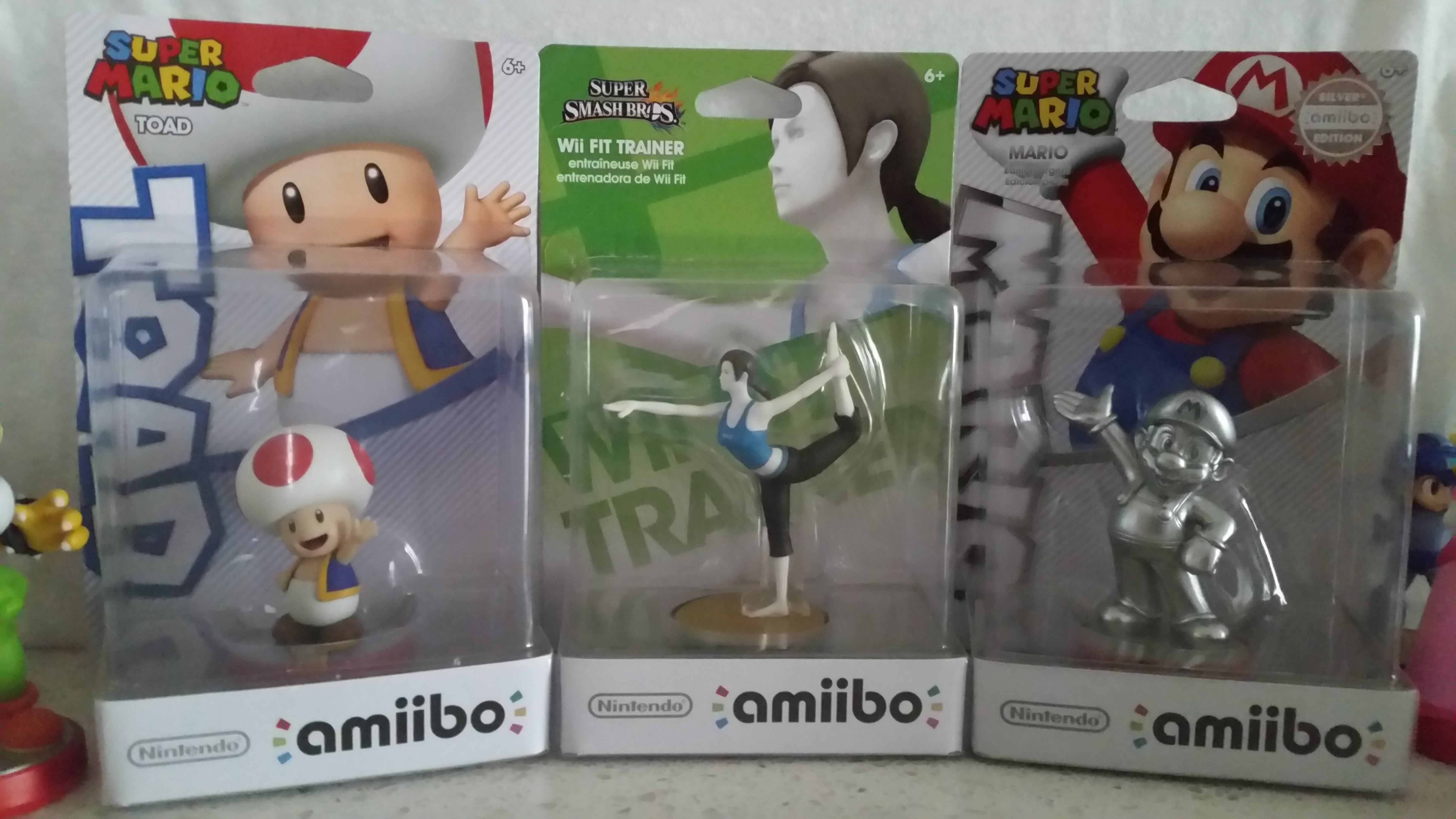 Amiibo Giveaway! Wii Fit Trainer, Silver Mario, and Toad!