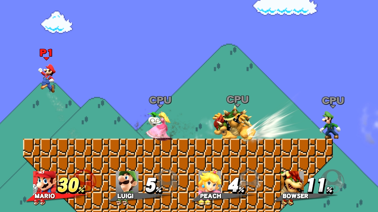 Super Mario Maker Stage for Smash Bros  Released, New Mii Costumes