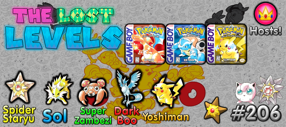 The Lost Levels: Episode 206 – Pokemon Red/Blue/Yellow (Ft. Yoshiman222) (+PokeRap Included!)