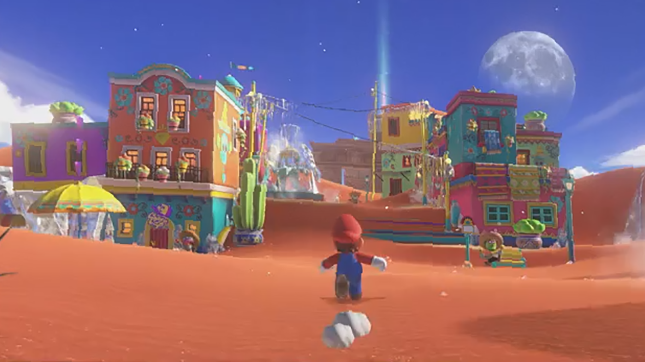 First look at the latest super mario on the nintendo for Housse nintendo switch mario